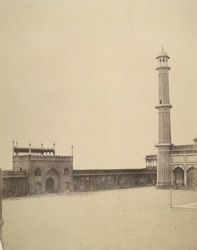 The Jumma Musjid, Delhi, left.